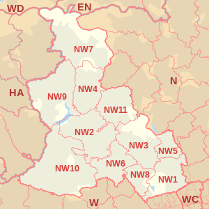 South west england postcode map